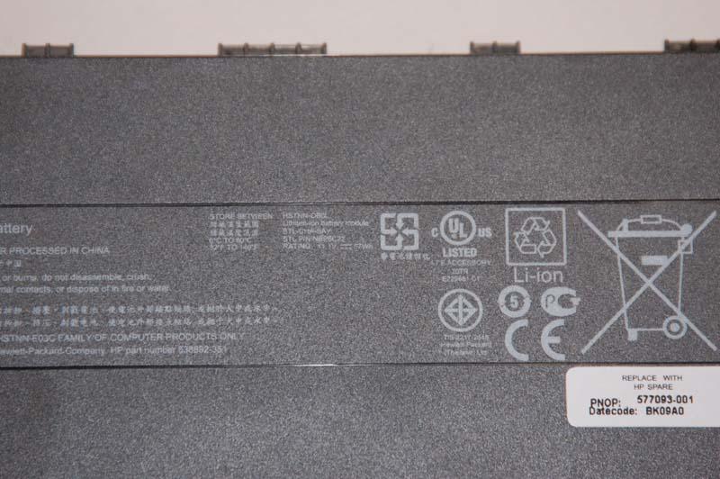 dm3aのバッテリは、11.1V/57Whの6セル仕様だ