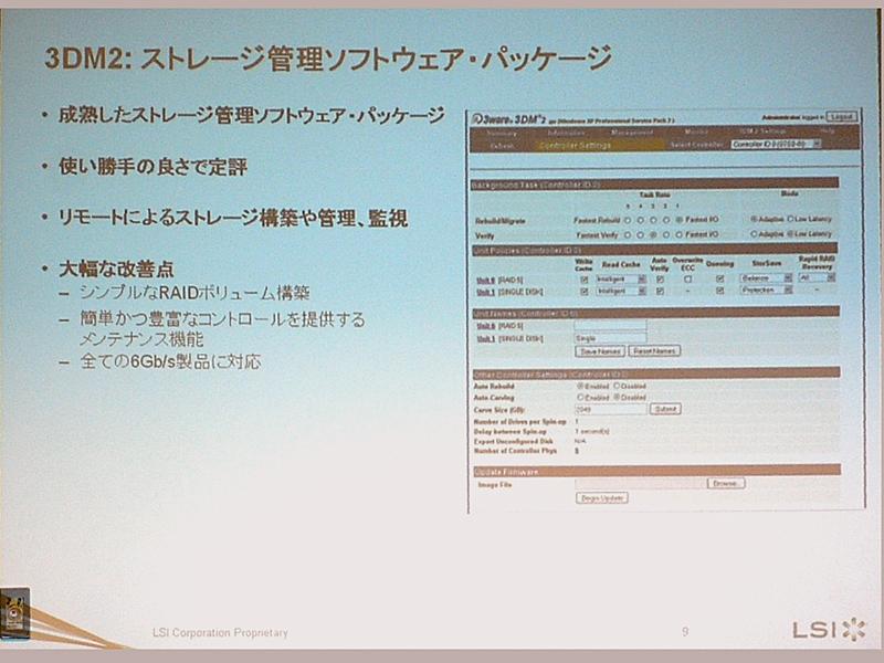 3wareの管理スイートがそのまま利用できる