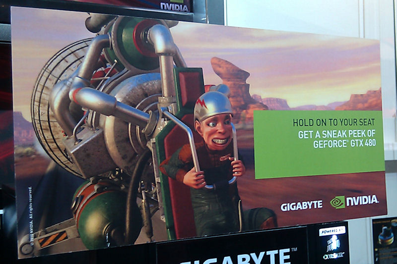 NVIDIAが各ブースで実施したSneak Peakデモの案内看板