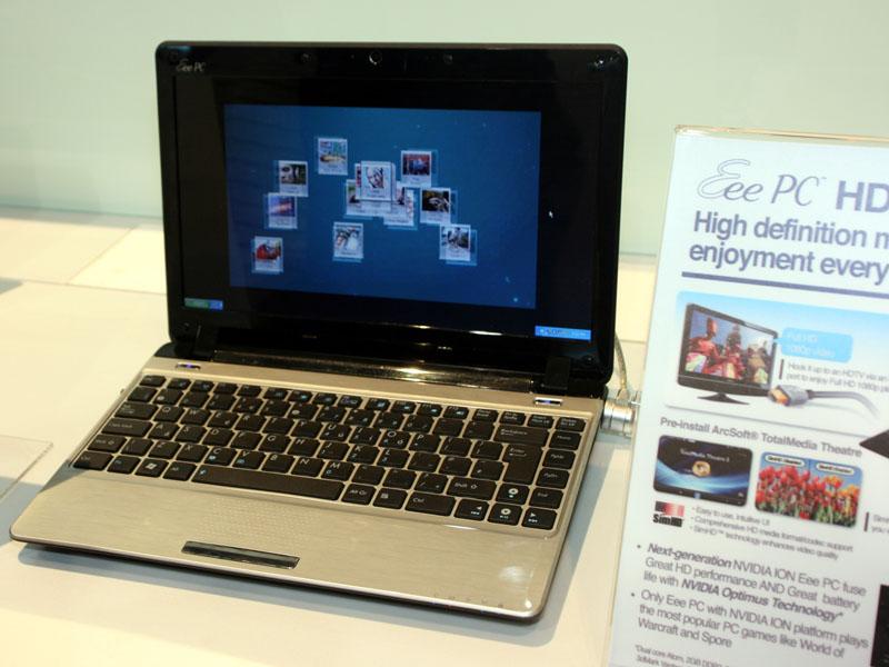 第2世代ION搭載ネットブック。ASUSの「Eee PC HD 1201N」