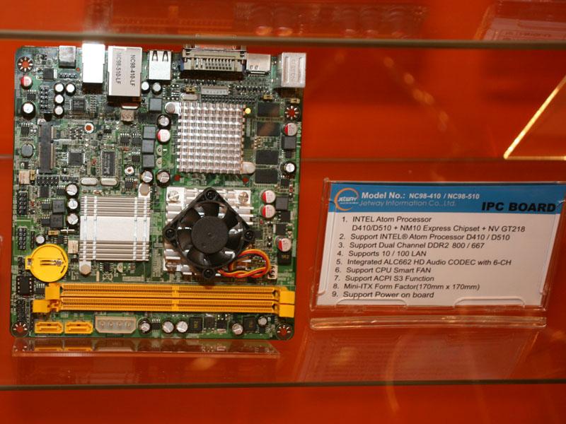 JETWAYのNC98-LFは第2世代ION搭載Mini-ITXマザーボード