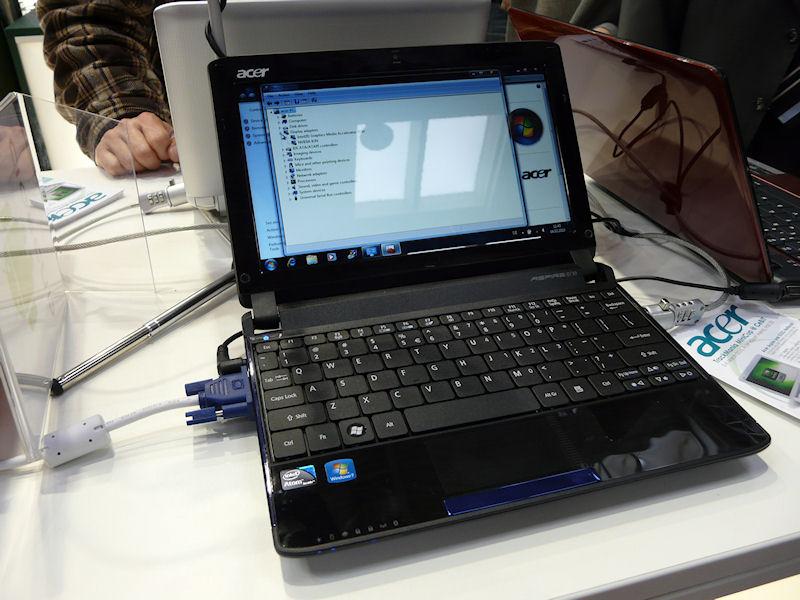 新NVIDIA ION搭載ネットブックの「Aspire one 532G」