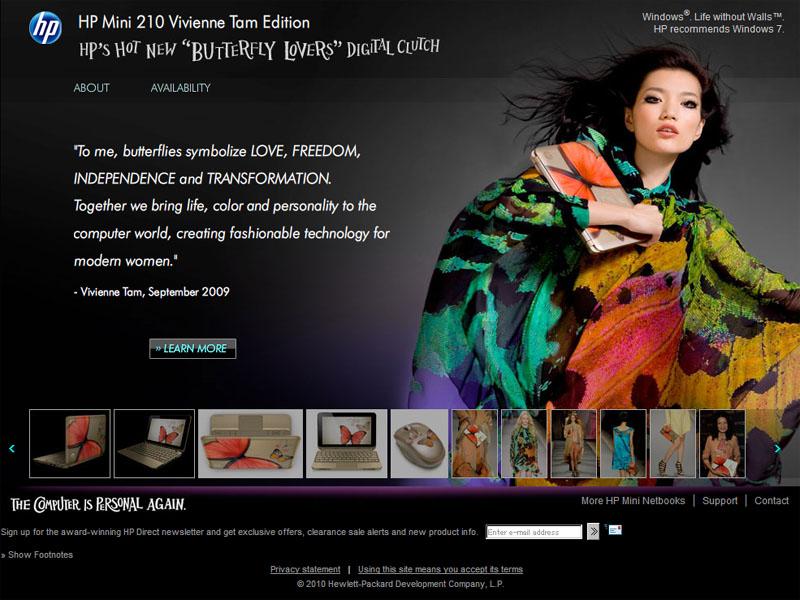 「New York Fashion Week as part of Tam's spring 2010 collection」に合わせて発表された