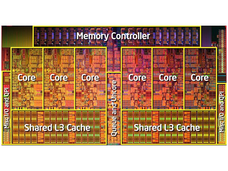 Core i7-980X Extreme Editionのダイ