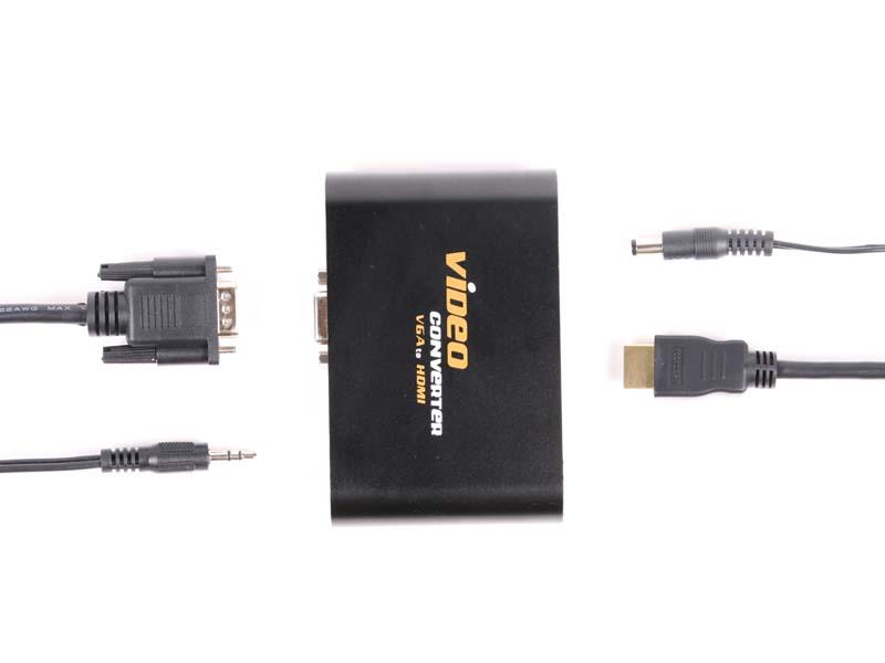 アナログRGBと音声を入力すると、HDMIで映像/音声を出力