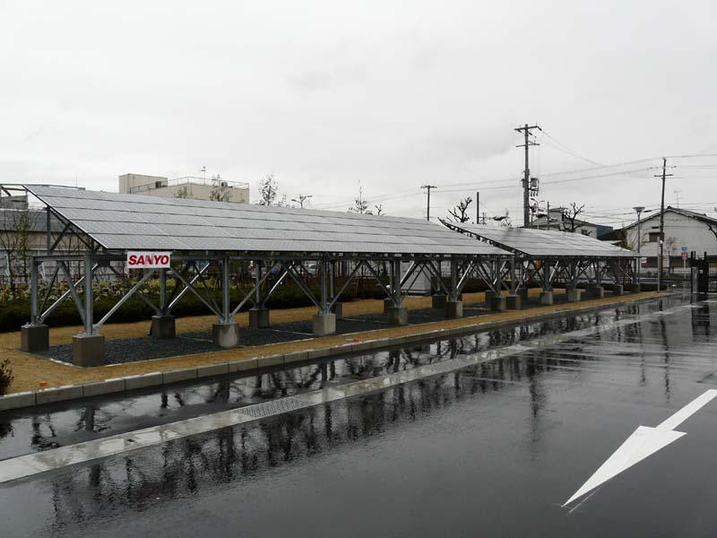 敷地内では三洋電機の太陽光発電システムも稼働