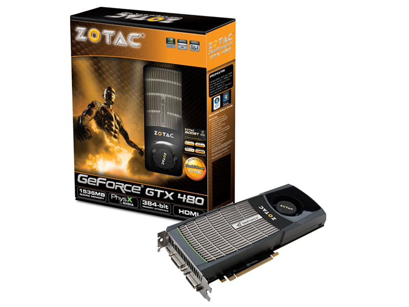 ZOTAC GeForce GTX480 Dual slot