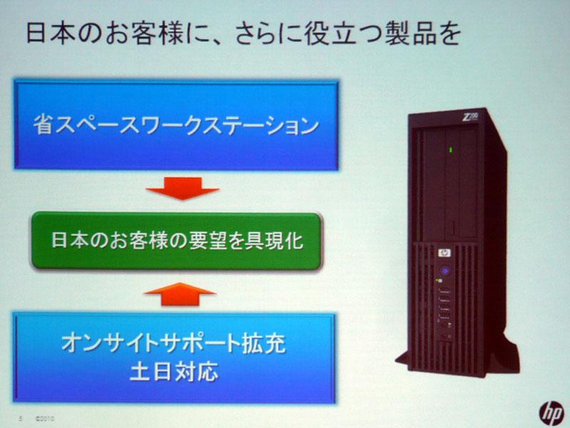 日本市場の要請で作られた製品