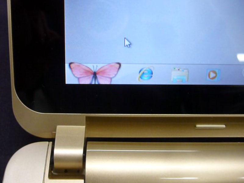 スタートボタンも蝶