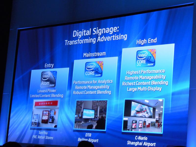 デジタルサイネージに対応する組み込み向けCore i/Atom
