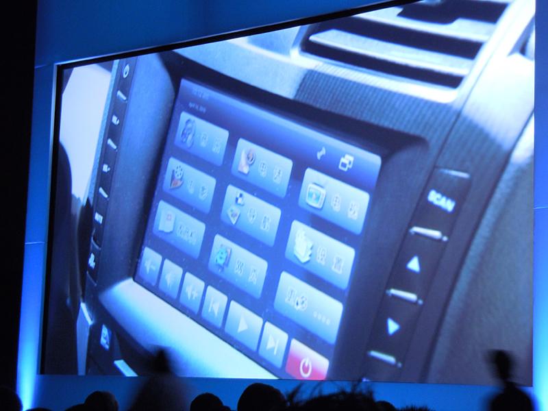 B11のIVIシステムの画面、Redflag Linuxベースで作られている