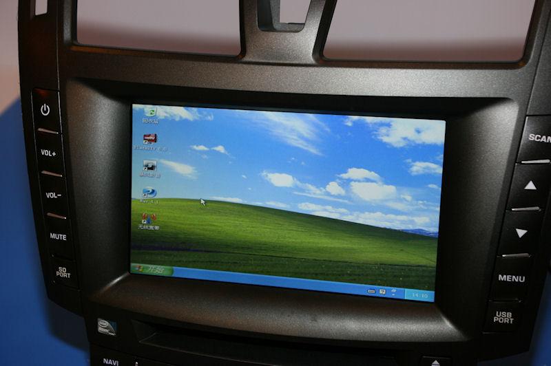 BLUESTAR TECHNOLOGYのIVI。Windows XPベースで動作している