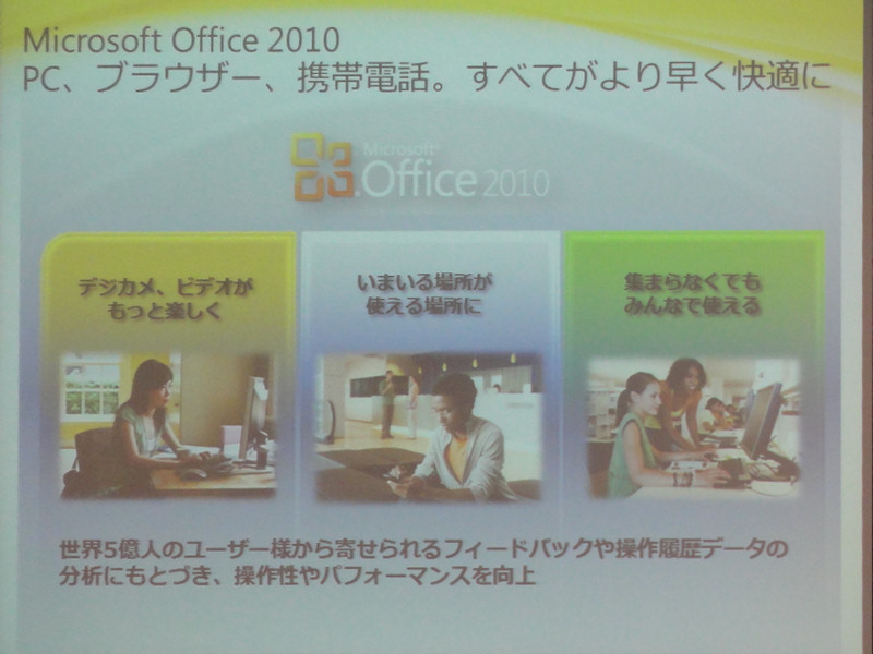 Office 2010の大きな特徴
