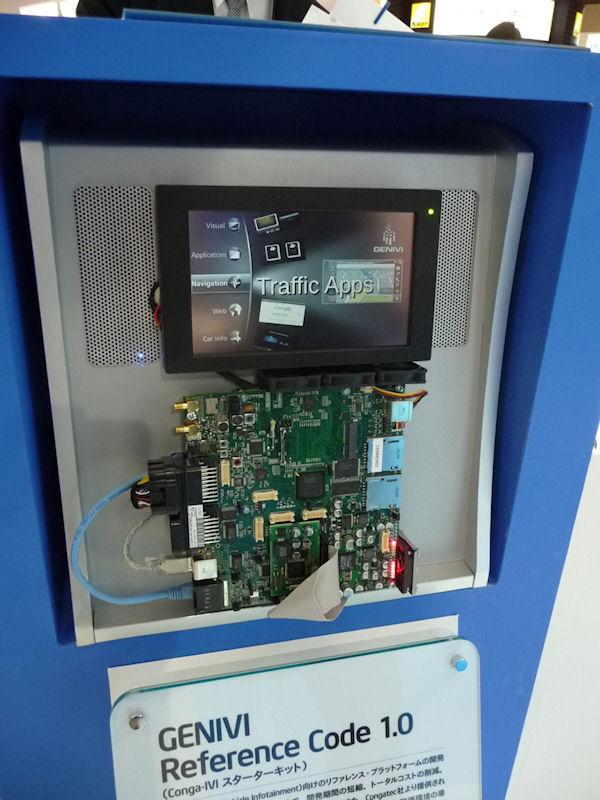 車載情報システム(IVI)の開発ボード