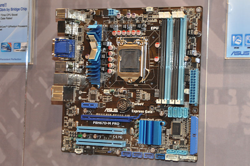 GPU内蔵CPUに対応するディスプレイ出力機能を持つ、「P8H67D-M PRO」