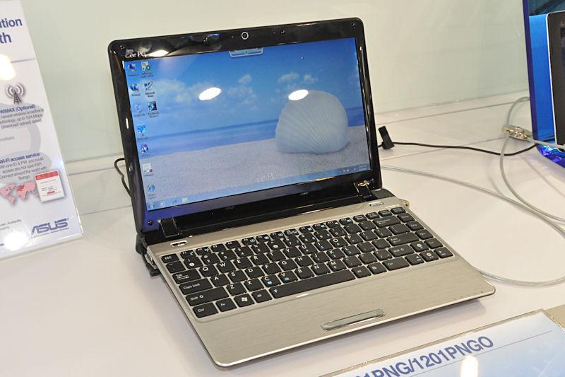 12.1型液晶の「1201PNG」。NVIDIAのION2をGPUに搭載。CPUはAtom N450。液晶解像度は1,366×768ドット