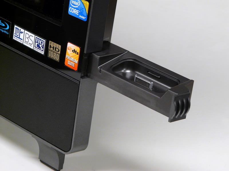 iPodドック。PCの電源がOFFの時でも、充電、内蔵スピーカーで再生できる