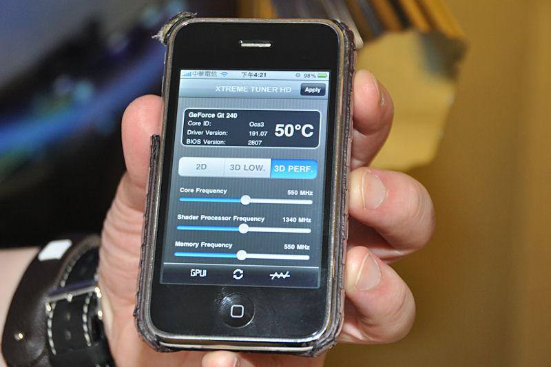 PCとWi-Fi接続してビデオカードのオーバークロックやモニタリングを行なえるiPhoneアプリ