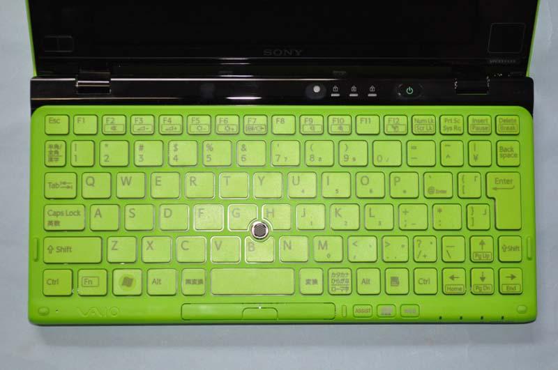 VAIO Pのキーボード。キーピッチは約16.5mm。アイソレーションタイプのキーボードで、快適にタイピングが可能