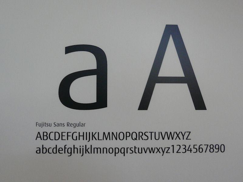 コーポレートフォントとして利用される「Fujitsu Sans」