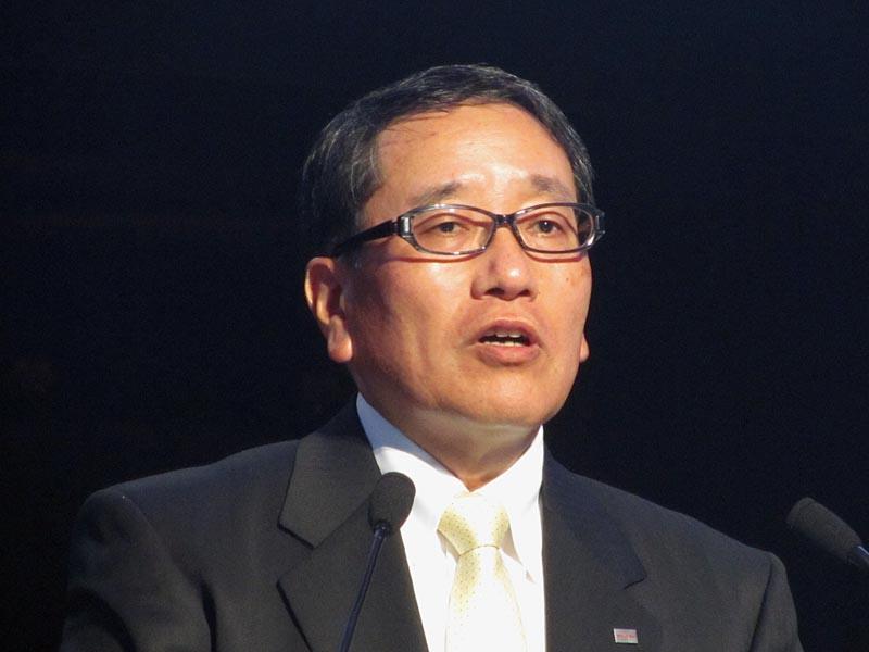 同社 執行役上席常務 デジタルプロダクツ&ネットワーク社 社長の深串方彦氏