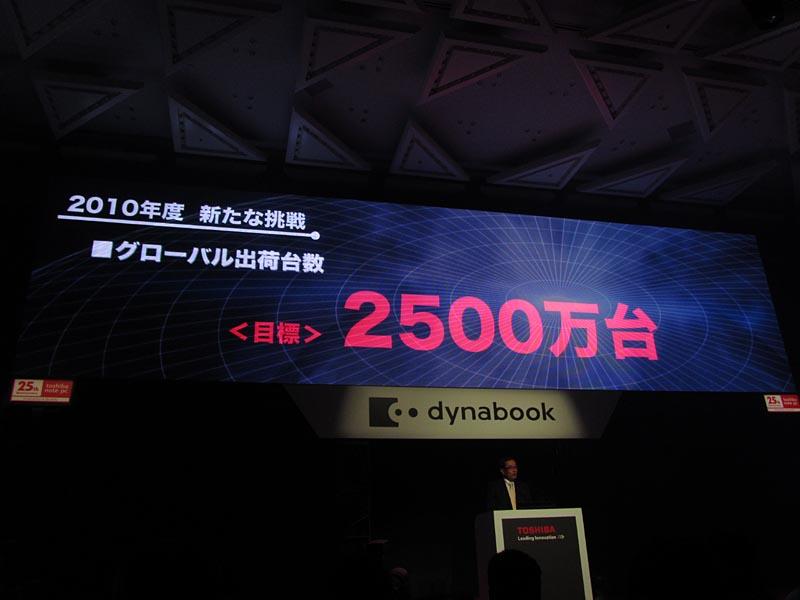 2,500万台の目標