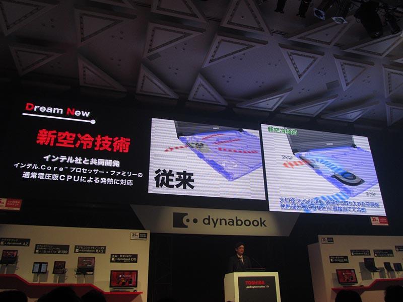 新空冷システムの採用で、通常電圧版CPUの搭載を可能とした