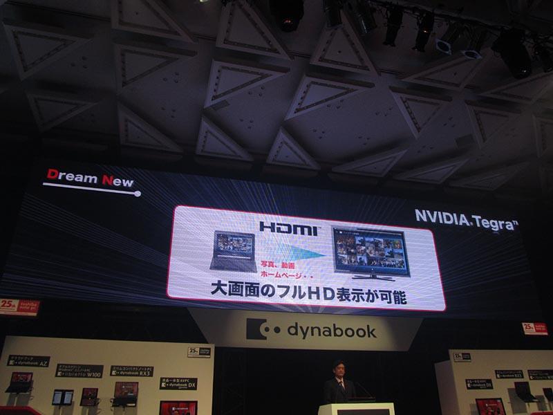HDMI端子の装備で大画面で写真や動画を楽しめる