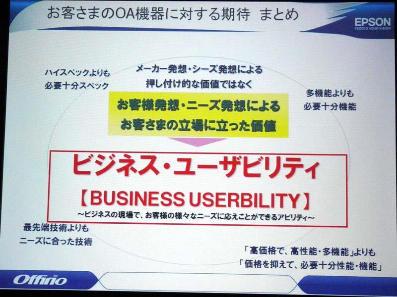 ビジネス・ユーザビリティの追求