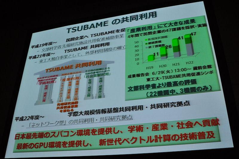 「みんなのスパコン」と称されたTSUBAME1同様、TSUBAME2.0も共同利用プログラムが提供される