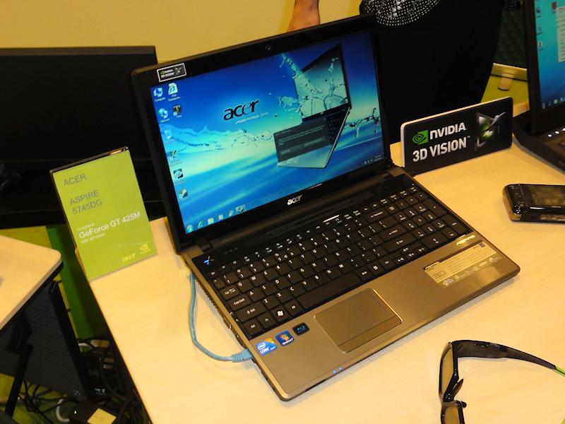 AcerのGeForce GT 425M搭載「ASPIRE 5745DG」