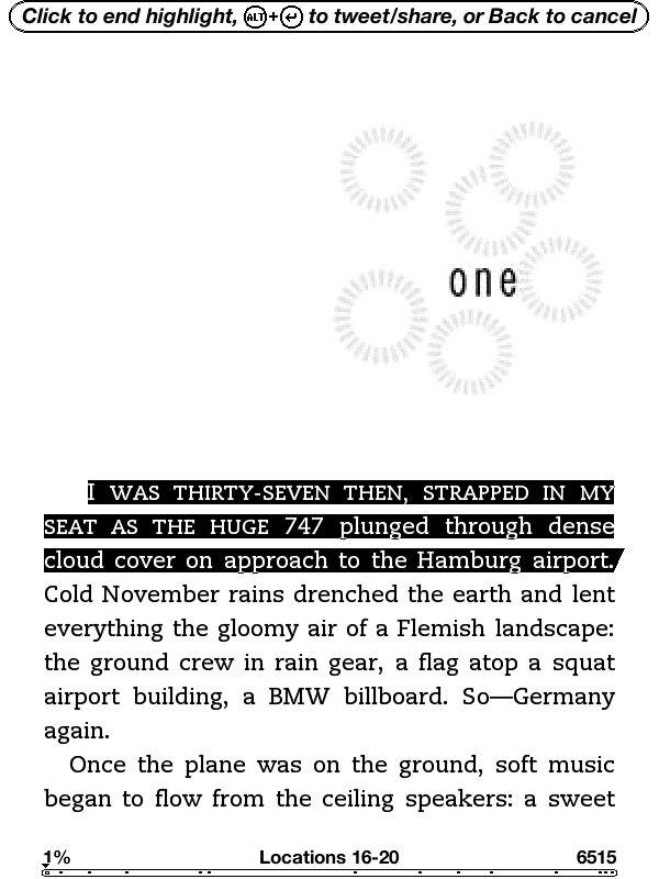 本文から引用したい箇所を範囲選択し、Alt + 改行キーを押す。すでにハイライトをつけた箇所を呼び出して投稿することも可能。表示しているのは村上春樹著「ノルウェイの森」の英語版(Norwegian Wood/Haruki Murakami)