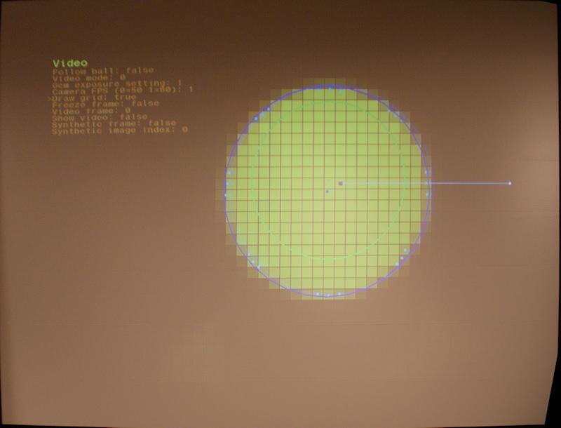光球のエッジの明るさから距離を検出する