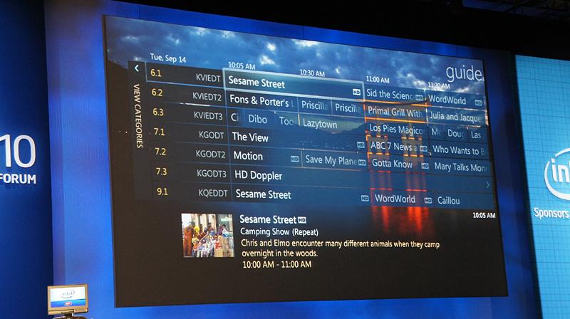組み込み向けのWindows Media Centerの画面。見てわかるように、そのまんまWindows Media Center。壁紙が宮島の写真なのはなぜなのだろうか