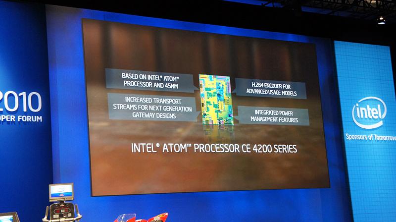Atom CE4200の新機能、MPEG-4 AVCのエンコーダ機能などが追加されている