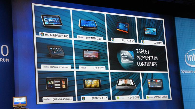 Atomプロセッサを搭載したタブレット端末。Windowsあり、MeeGoあり……