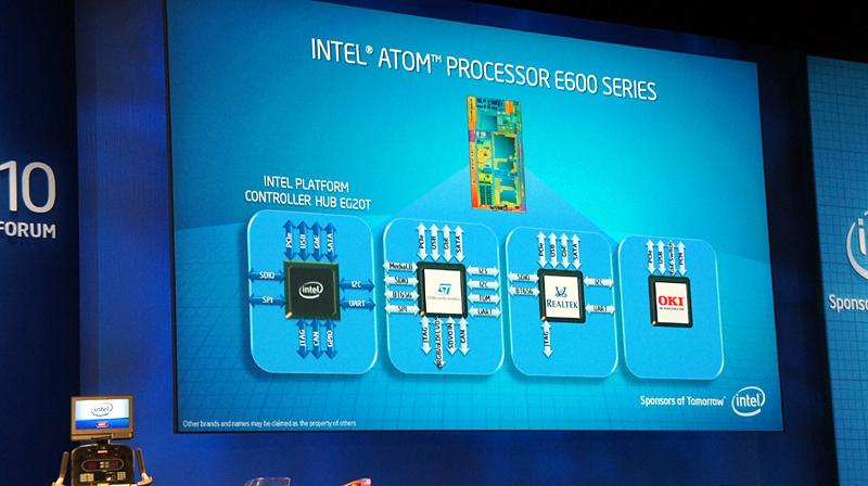 Tunnel CreekはAtom E600シリーズとして正式発表、I/Oハブは他社を含めて柔軟に選べる