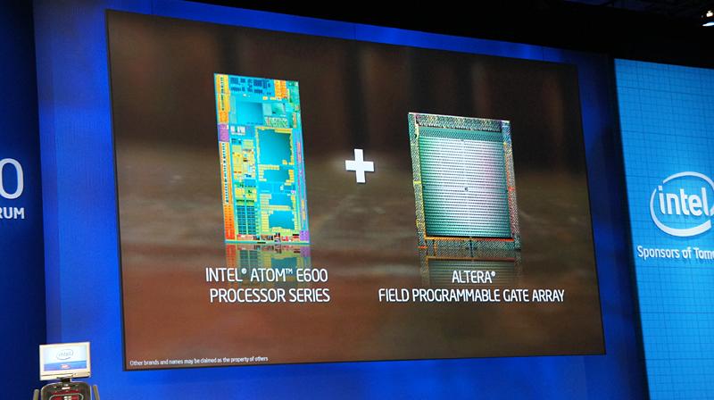さまざまな用途に利用できるプログラマブルなゲートアレイをAtom E600上に搭載