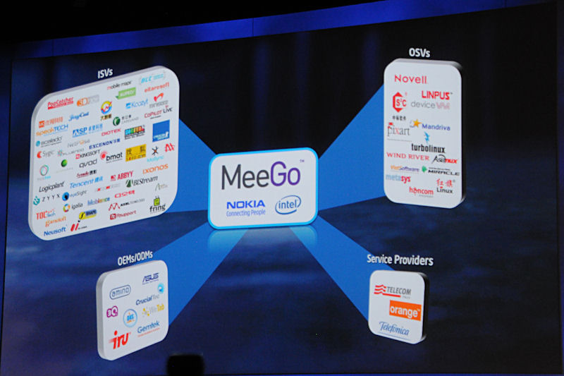 MeeGoの賛同企業は発表以降、増加を続けているとする