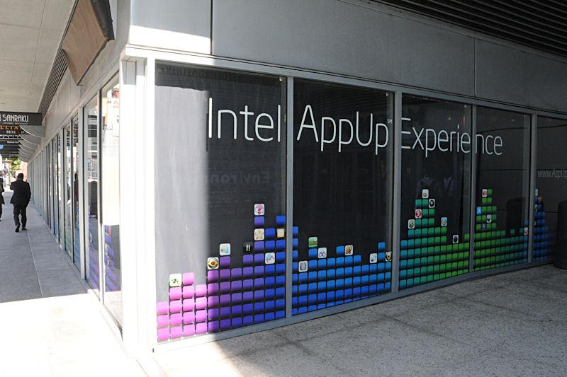 IDF会場の向かいに開かれたAppUp Storeの店舗