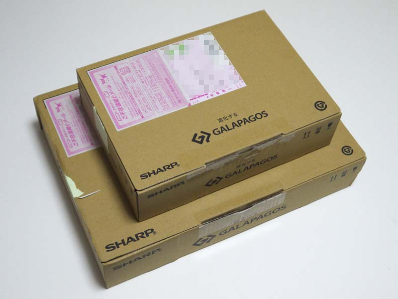 到着時の梱包。ちなみにメーカー側は1人が2台使うことは想定していないようで、PCとの連携ソフトである「GALAPAGOS Station」は1台までしか認識しない