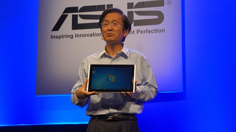 Eee Slate EP121は12.1型の液晶を搭載したスレートデバイス