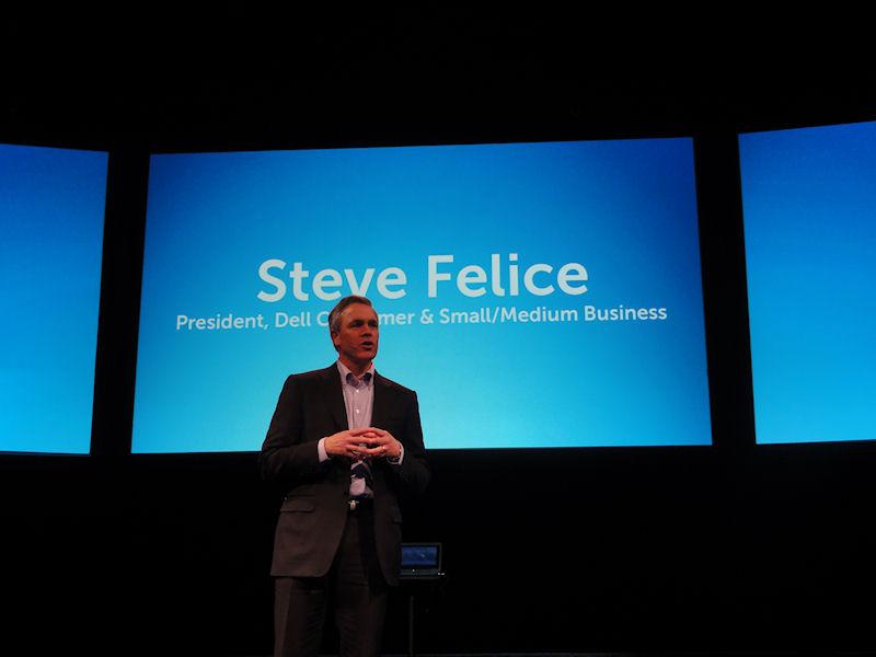 カンファレンスで壇上に上ったコンシューマ/SMBトップのSteve Felice氏