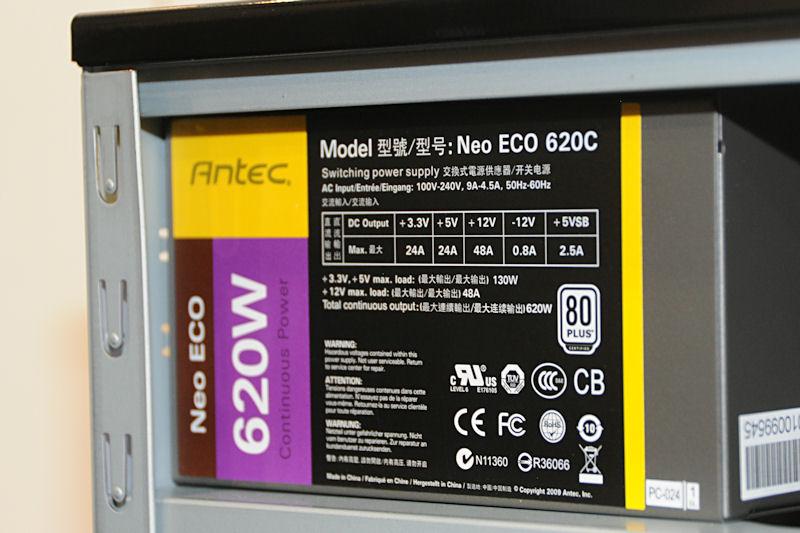 電源もSONATA IIIの500Wから620Wに強化。500Wでは不安というユーザーの声に応えたものという