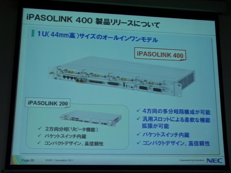 iPASOLINK 400は1Uサイズのオールインワン