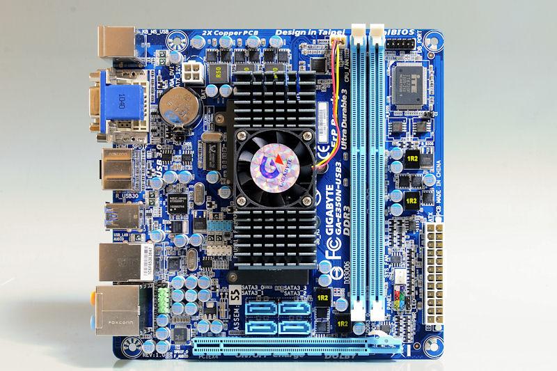 【写真6】GIGABYTEのAMD E350+AMD A50M搭載マザーボード「GA-E350N-USB3」