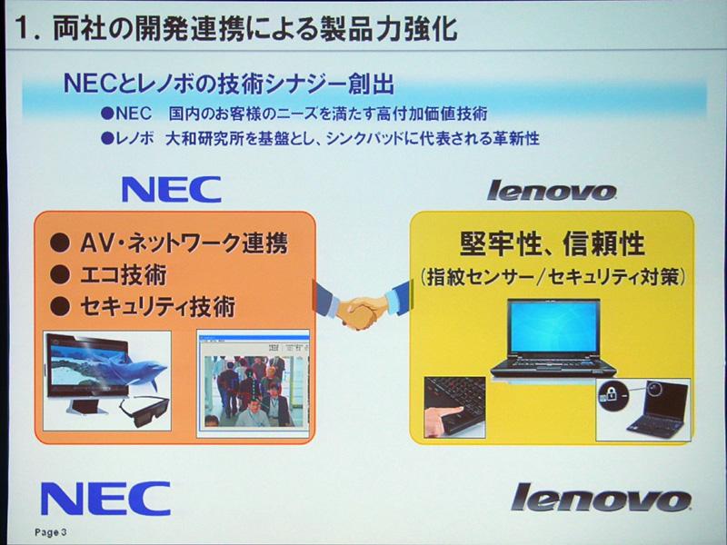 開発連携による製品の強化