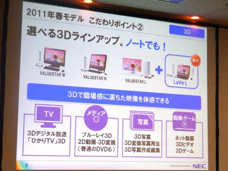 LaVie Lで3D対応モデルが登場した