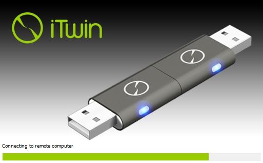 PCにiTwin本体をつなぐと管理ソフトが自動起動する