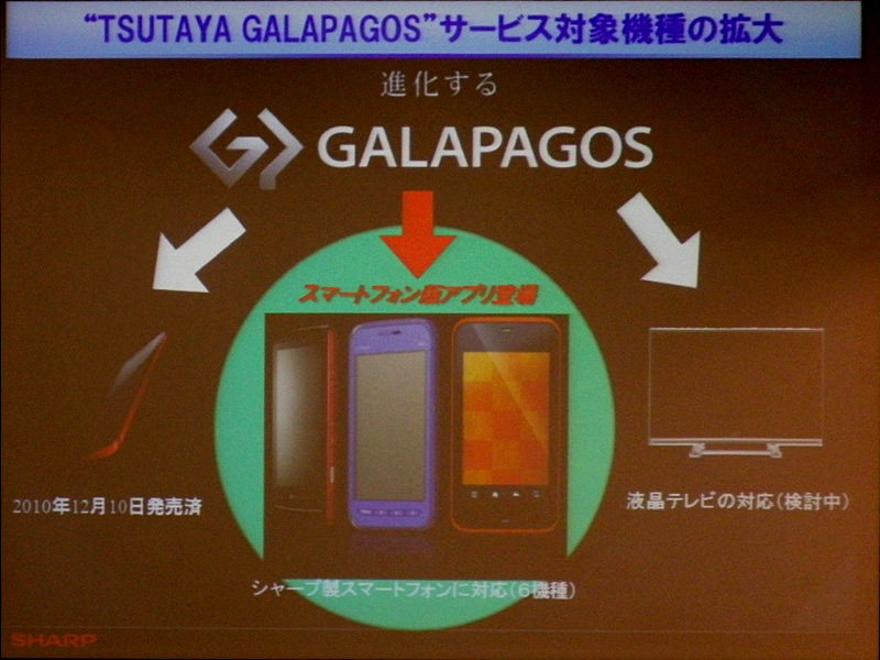 専用端末、スマートフォンのみならず、将来的にTVへの展開も検討する